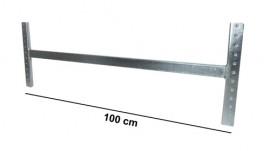 Asta di irrigidimento L100 cm Zincata (kit completo)